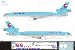 Ascensio 011-005 Декаль на самолет McDonnell Douglas MD-11 Korean Air 1/144
