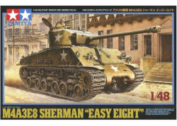 "Tamiya 32595 Американский средний танк M4A3E8 Sherman ""Easy Eight"" с фигурой командира 1/48"