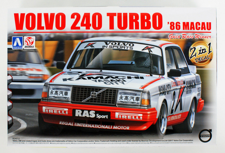 Aoshima 098257 Volvo 240 Turbo '86 Macau Guia Race Winner 1/24