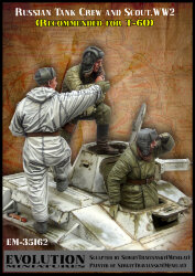 Evolution Miniatures EM-35162 Russian Tank Crew and scout (for the T-60) 1/35