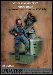 Evolution Miniatures EM-35058 Soviet tankmen WW2 (1940-1942) 1/35