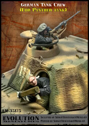 Evolution Miniatures EM-35175 German Tank Crew (For Panther Tank) 1/35