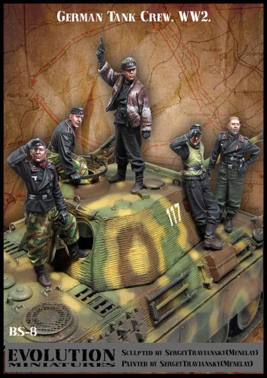 Evolution Miniatures BS-8 German Tank Crew 1/35