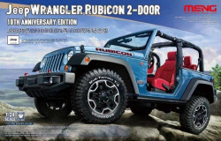 Meng Model CS-003 Jeep Wrangler Rubicon 2-Door 10th Anniversary Edition 1/24