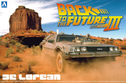 Aoshima 01187 Back to the Future III Delorean 1/24