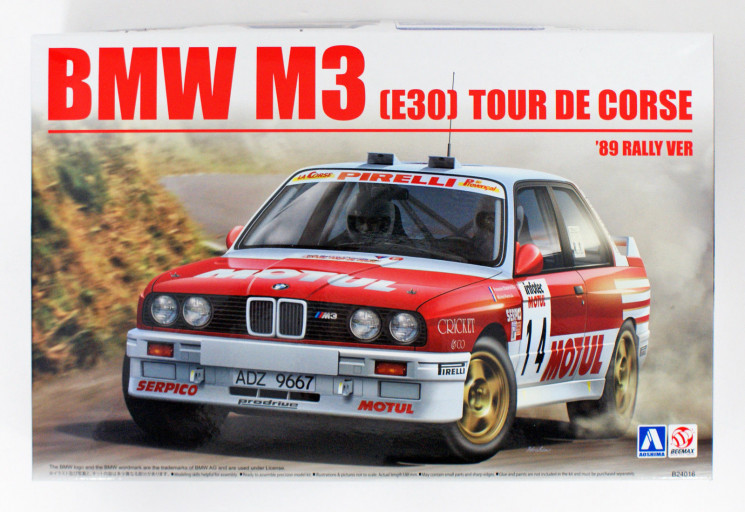 Aoshima 105061 BMW M3 E30 `89 Tour de Corse Rally Version 1/24