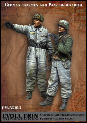 Evolution Miniatures EM-35193 German tankmen and Panzergrenadier 1/35