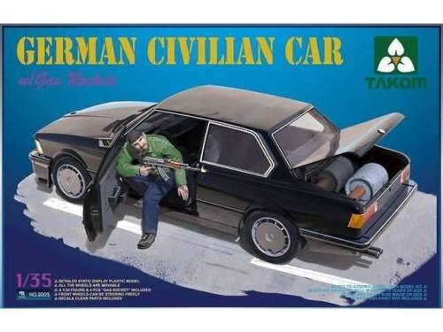 Takom 2005 German Civilian Car with Gas Rockets 1/35