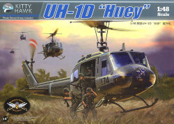 Kitty Hawk KH80154 Вертолет UH-1D Huey 1/48