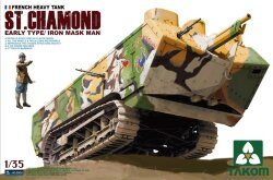 Takom 2002 French Heavy Tank St. Chamond Early Type 1/35