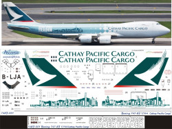 Ascensio 748F-001 Декаль на самолет Boeing 747-8F Cathay Pacific Cargo 1/144