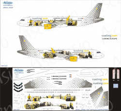Ascensio 320-023 Декаль на самолет Airbus A320 Vueling.com (Linking Europe) 1/144